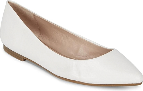 a195a6d90e26b8 Millie Leather Flats - Flats - BCBGeneration - WHITE. Elegant ballet flats  crafted from quality