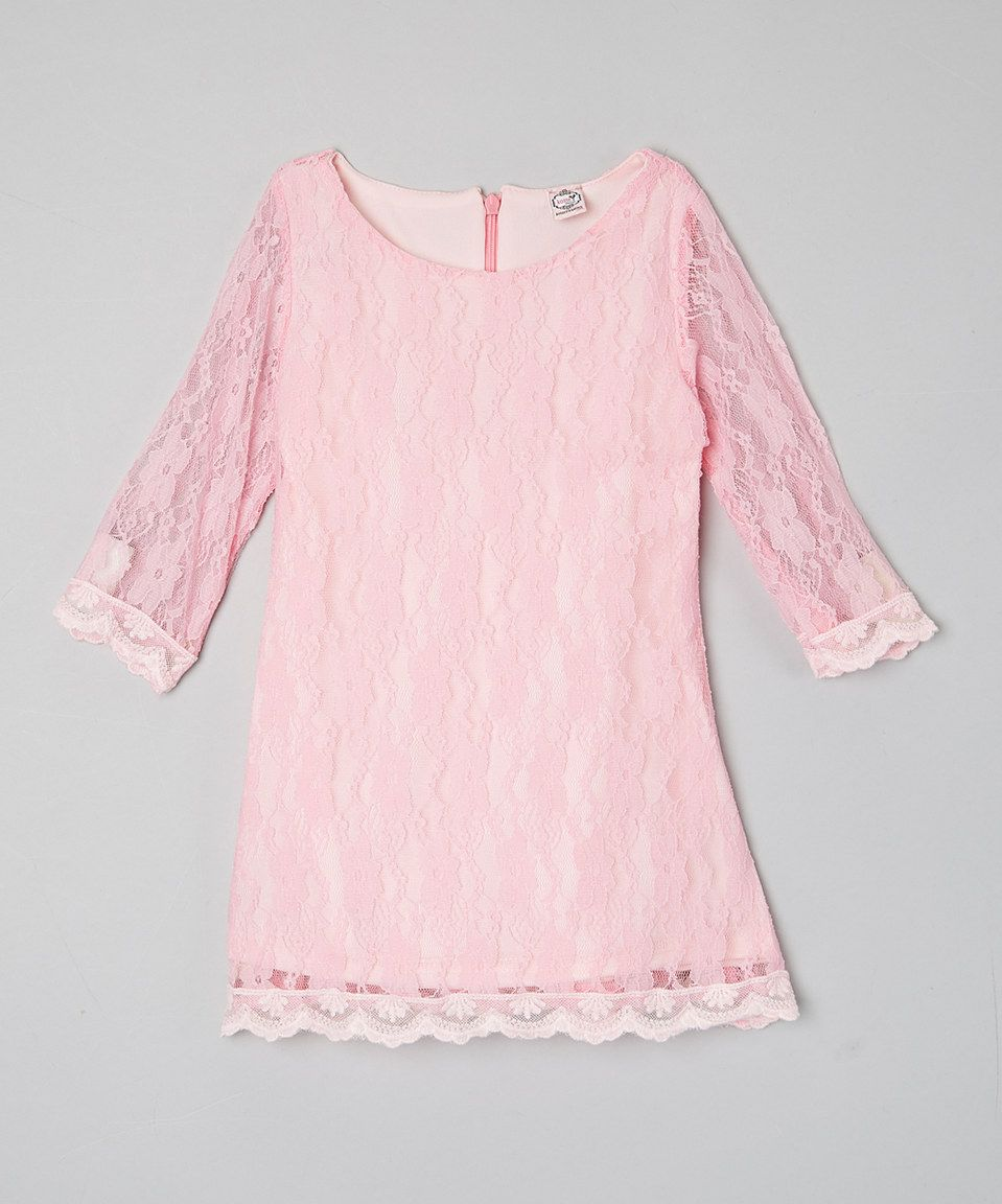 Another great find on #zulily! Kosse Designs Pink Lace-Trim Dress - Toddler by Kosse Designs #zulilyfinds