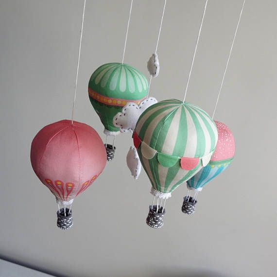 Heißluftballon Kinderzimmer kinderzimmer dekor diy baby mobile bausatz heißluftballon
