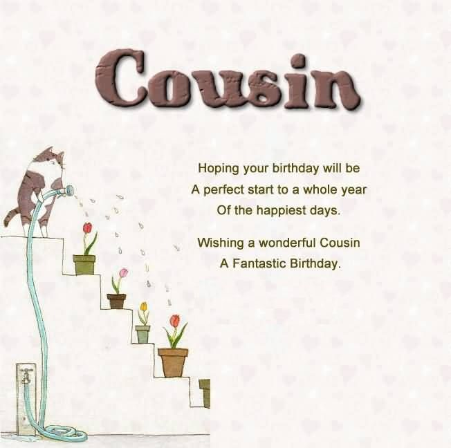 Cousin Birthday Quotes Happy Birthday Wishes For Cousin Sister  Birthday Messages Images .