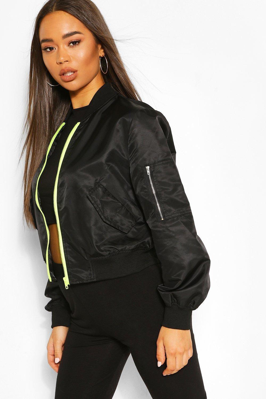 Women S Cropped Pocket Detail Bomber Jacket Boohoo Uk Bomber Jacket Pocket Detail Latest Coats [ 1500 x 1000 Pixel ]