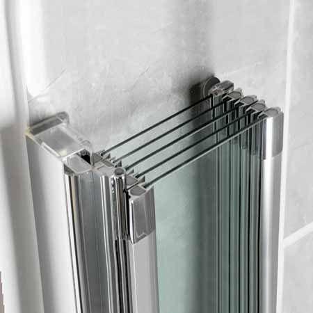 For Family Bathroom Manhattan M3 Swiftseal 5 Panel Folding Bath Shower  Screen