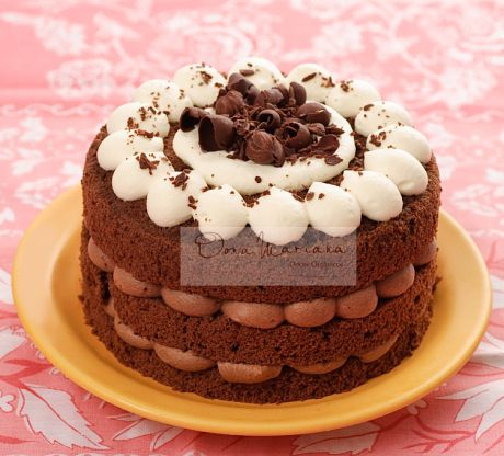 Blossom Bolo Chiffon De Chocolate Com Duas Camadas De Mousse De