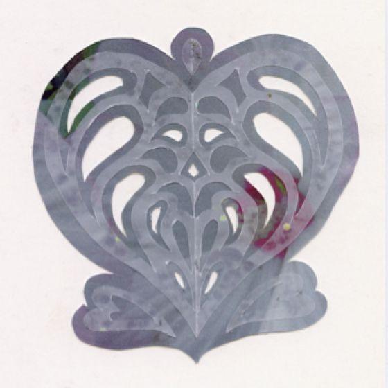 #day7 #30daysofcreativity Vellum, digital print, and cardstock Victorian Heart