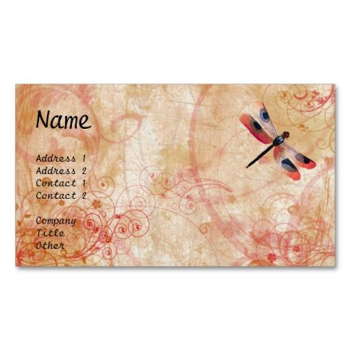 Dragonfly Flourish #Business-Card
