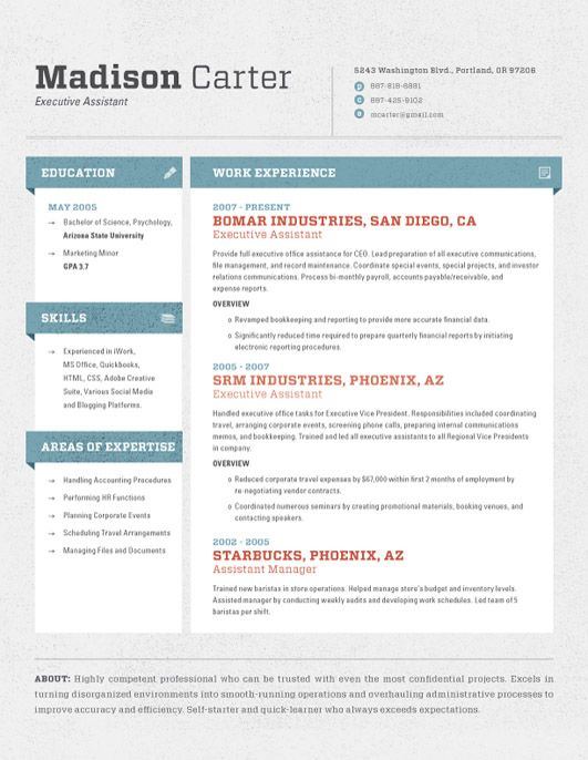 Cubes Contemporary Resumes Resume layout, Resume templates