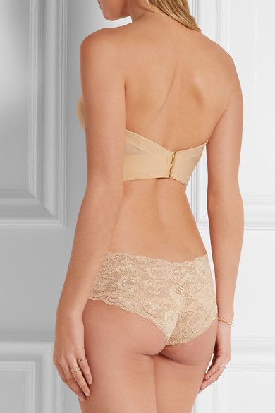 Marni Matte-satin And Stretch-mesh Plunge Bra - Neutral Cosabella Cheap Sale Excellent Real Sale Online Clearance Visit xGiQFM