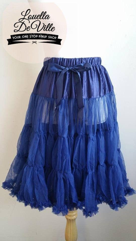 Bexterity Luxurious Single Layer Petticoat Navy