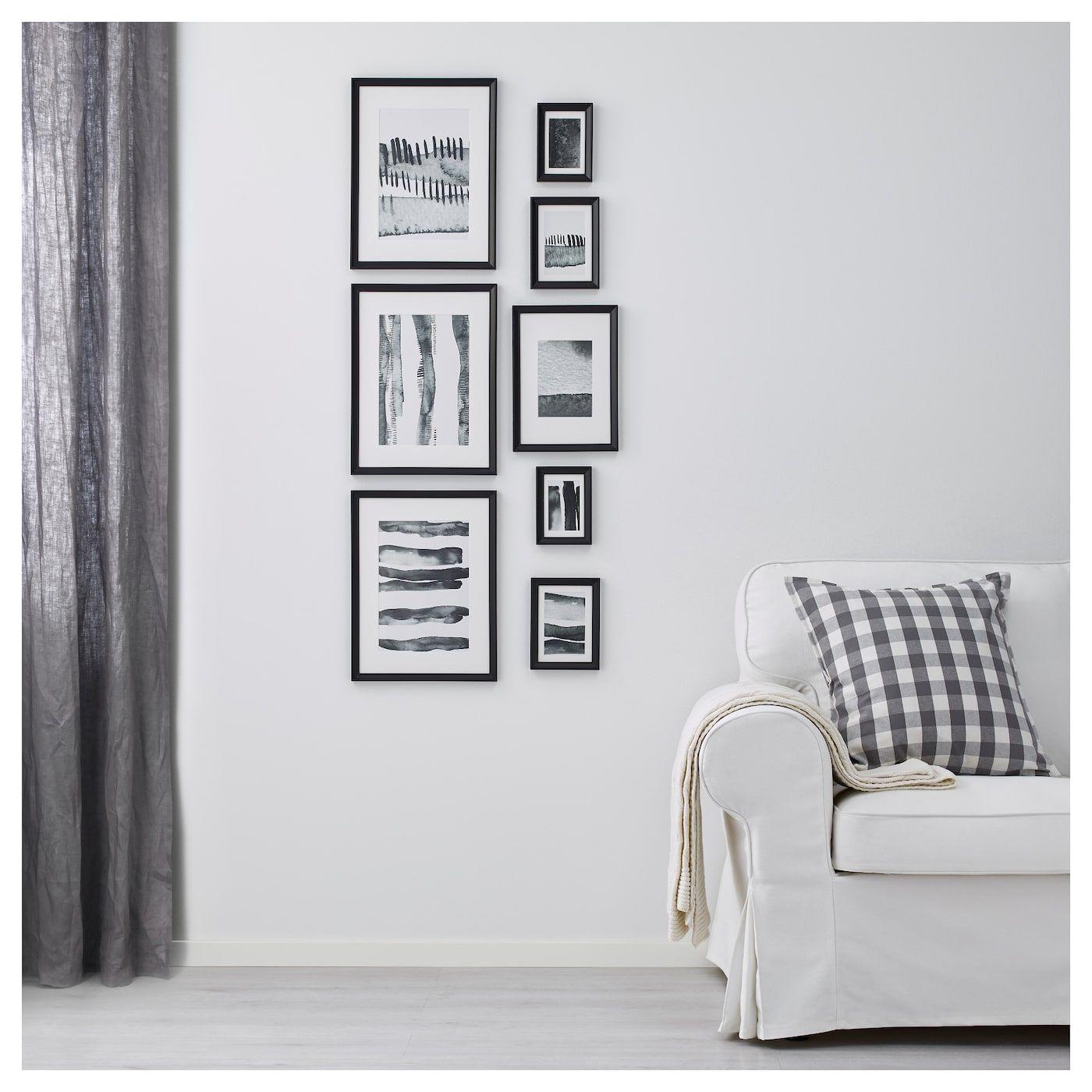 Rahmen mit Bild 8er-Set KNOPPÄNG schwarz   Pinterest   Pastellrosa ...