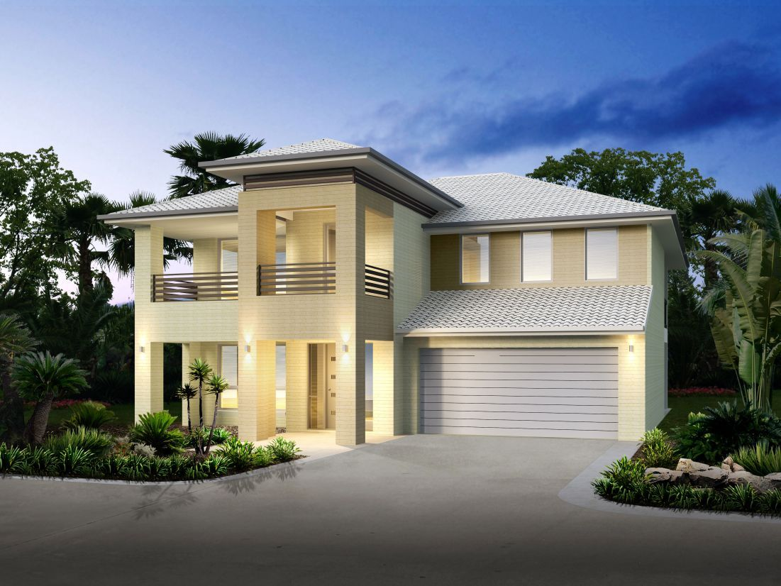 This double storey design offers a fresh approach to Two story house plans with balcony
