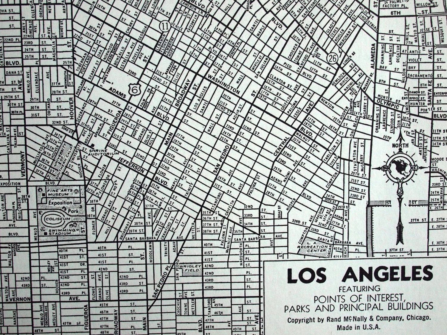 1944 Vintage Map of Los Angeles California. by bananastrudel | 255 on california map highways, buenos aires points of interest, california map things to do, california map streets, turkey points of interest, california map directions, california map campgrounds, egypt points of interest, india points of interest, mexico points of interest, morocco points of interest, california map poi, highway 101 points of interest, kenya points of interest, washington dc points of interest, san luis obispo points of interest, dubai points of interest, usa points of interest, new england points of interest, tokyo points of interest,