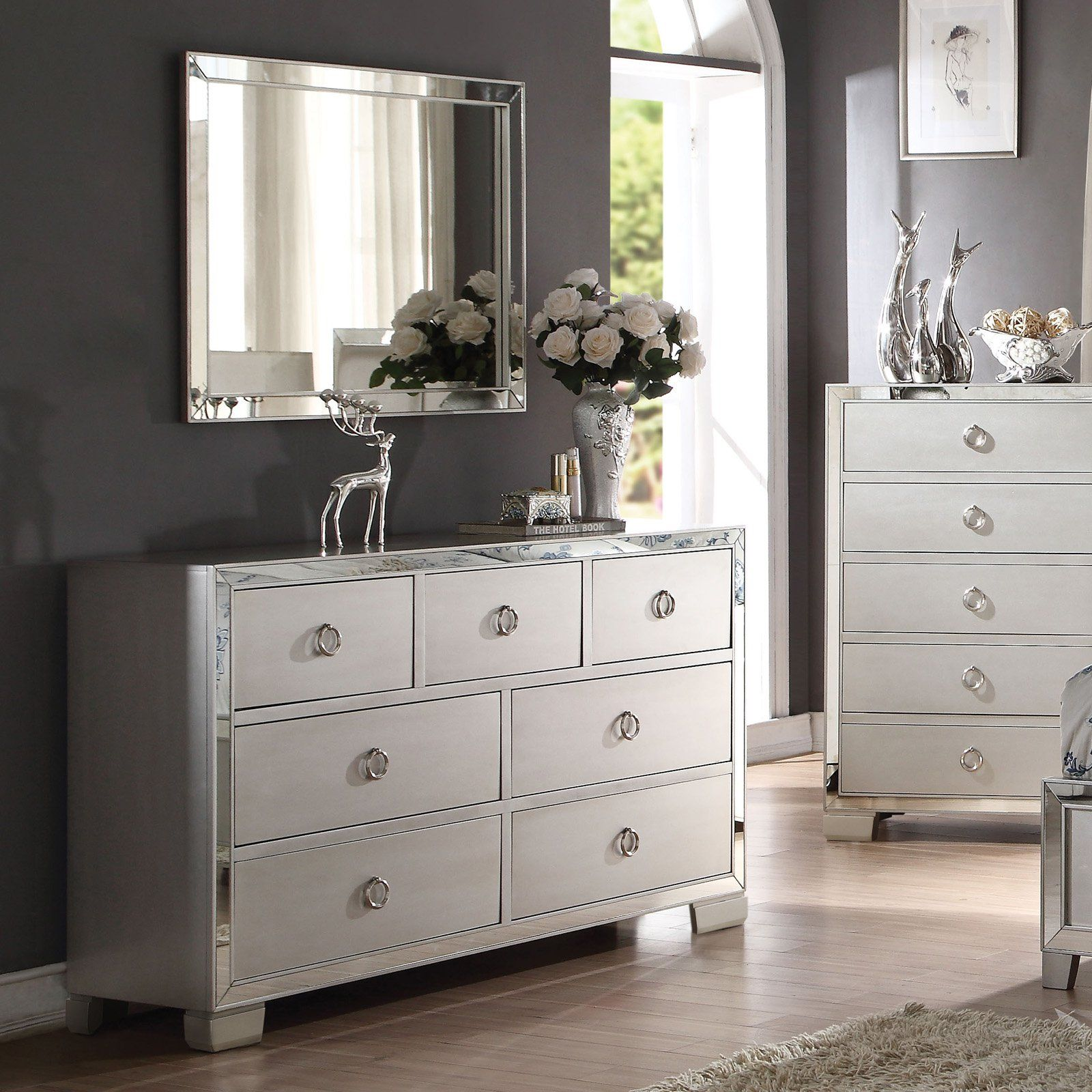Acme Furniture Voeville Ii Platinum 7 Drawer Dresser With Optional Mirror In 2021 Acme Furniture White Furniture Living Room Furniture [ 1600 x 1600 Pixel ]