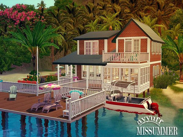 Missummer Furnished House By Ayyuff Sims 3 Downloads Cc Caboodle Sims House Sims Sims 3 Houses Ideas