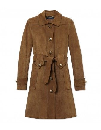 f6f2245b3 Gucci Suede Belted Trench Coat | Coats & Outerwear | Suede trench ...