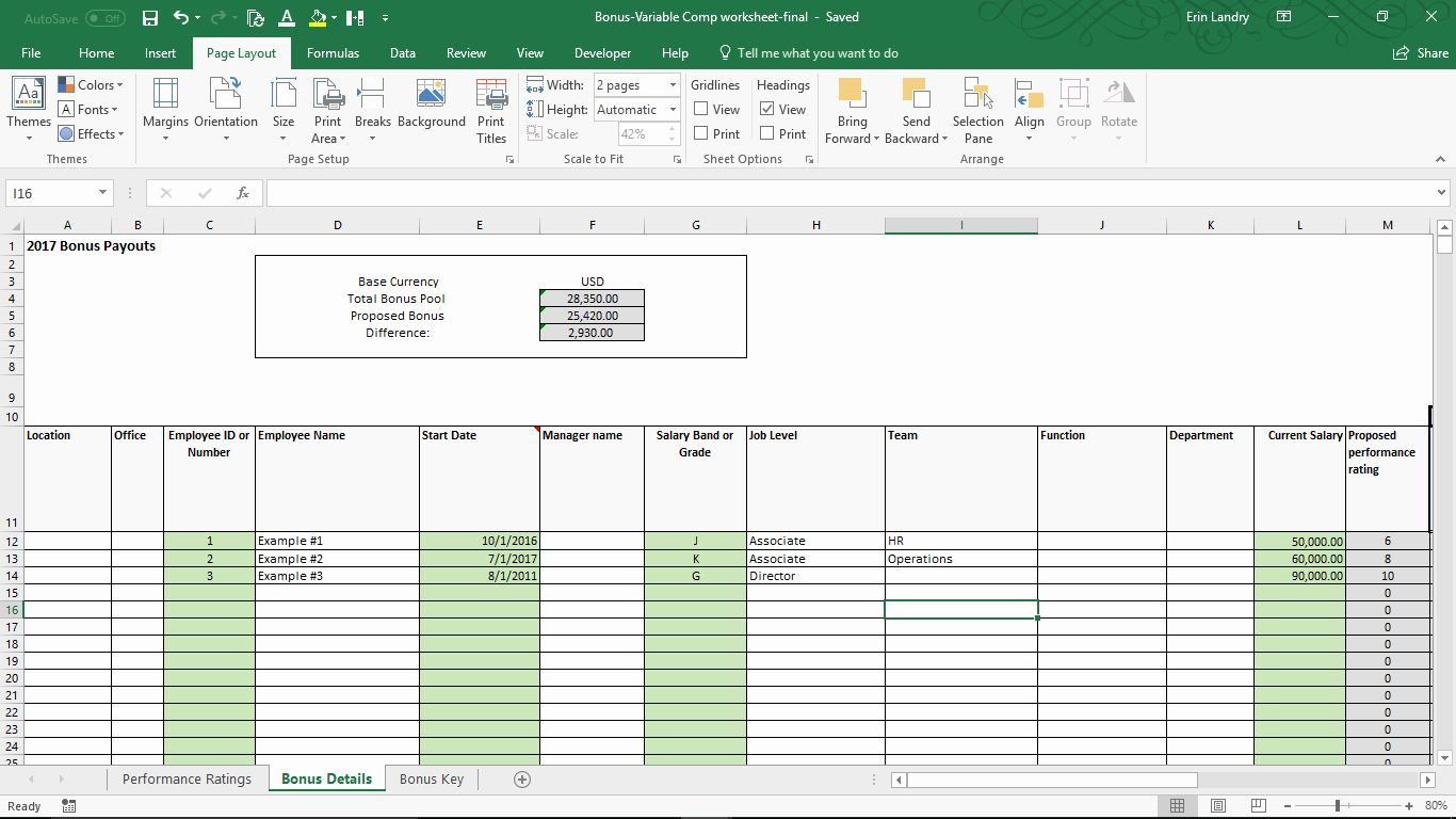 Bonus Plan Template Excel Best Of Variable Pensation Plan