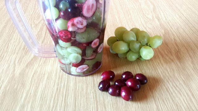 alldaysDesigner Blog: Cranberry – Smoothie mit grünen Weintrauben