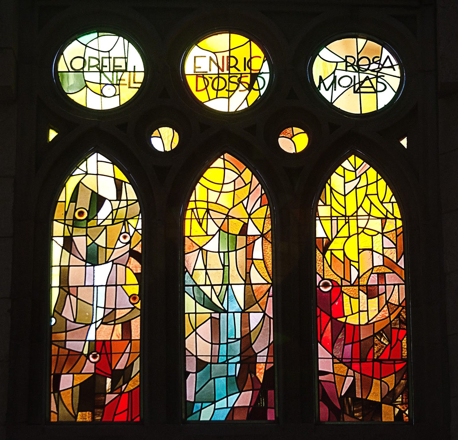 New Stained Glass Windows at Sagrada Familia Cathedral ...