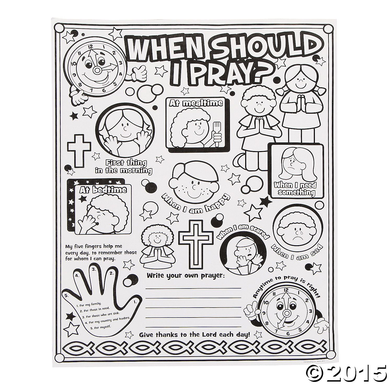 Our Color Your Own When Should I Pray Posters Are An