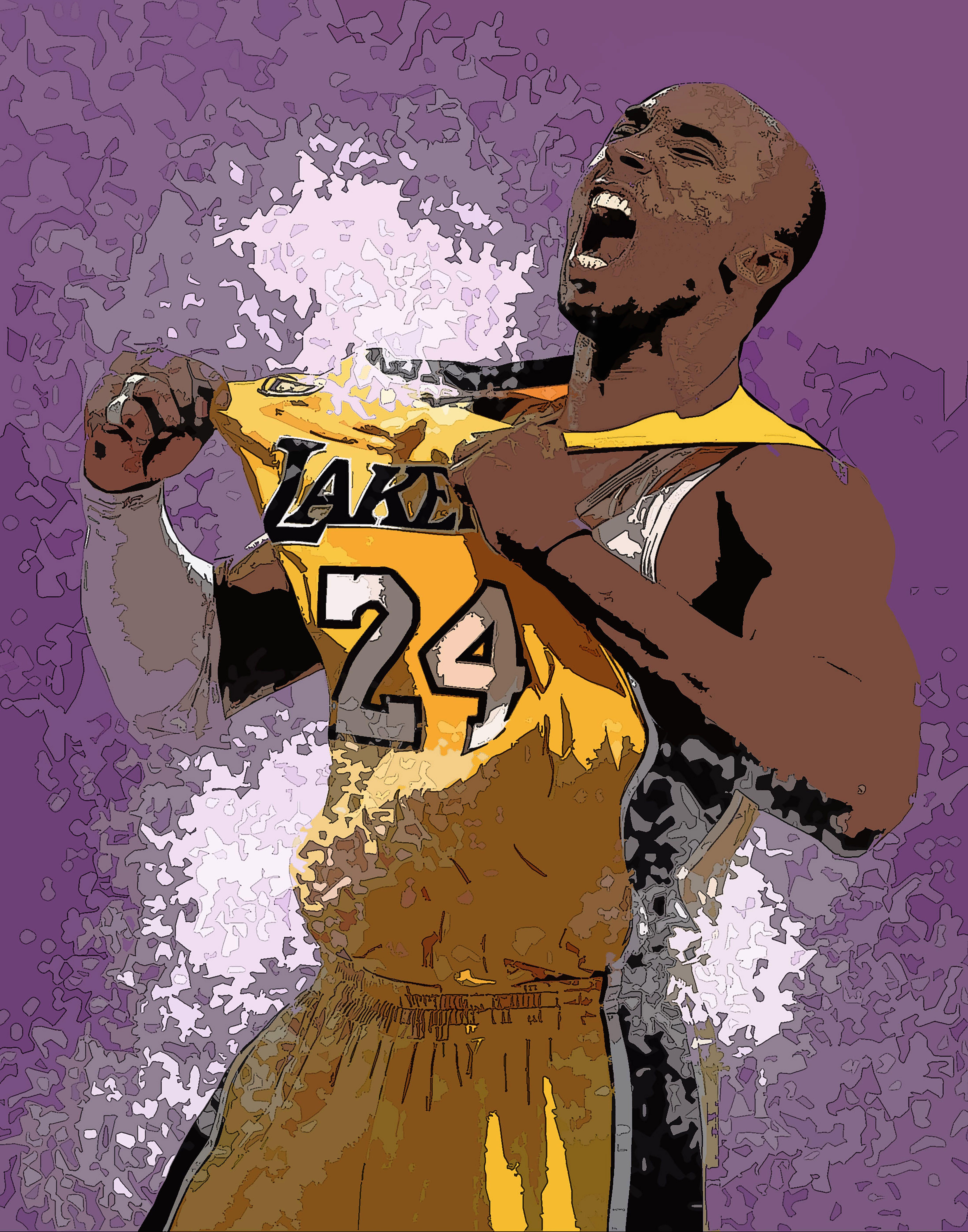 Kobe Bryant - Lakers - NBA basketball poster - @bexleydesigns ...