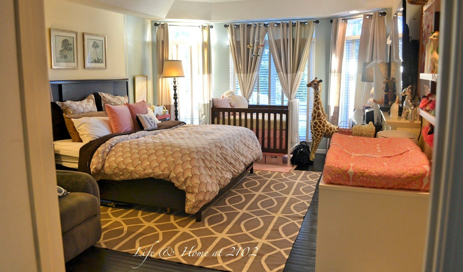 Life home at 2102 master bedroom with nursery reveal for Ideas for your room