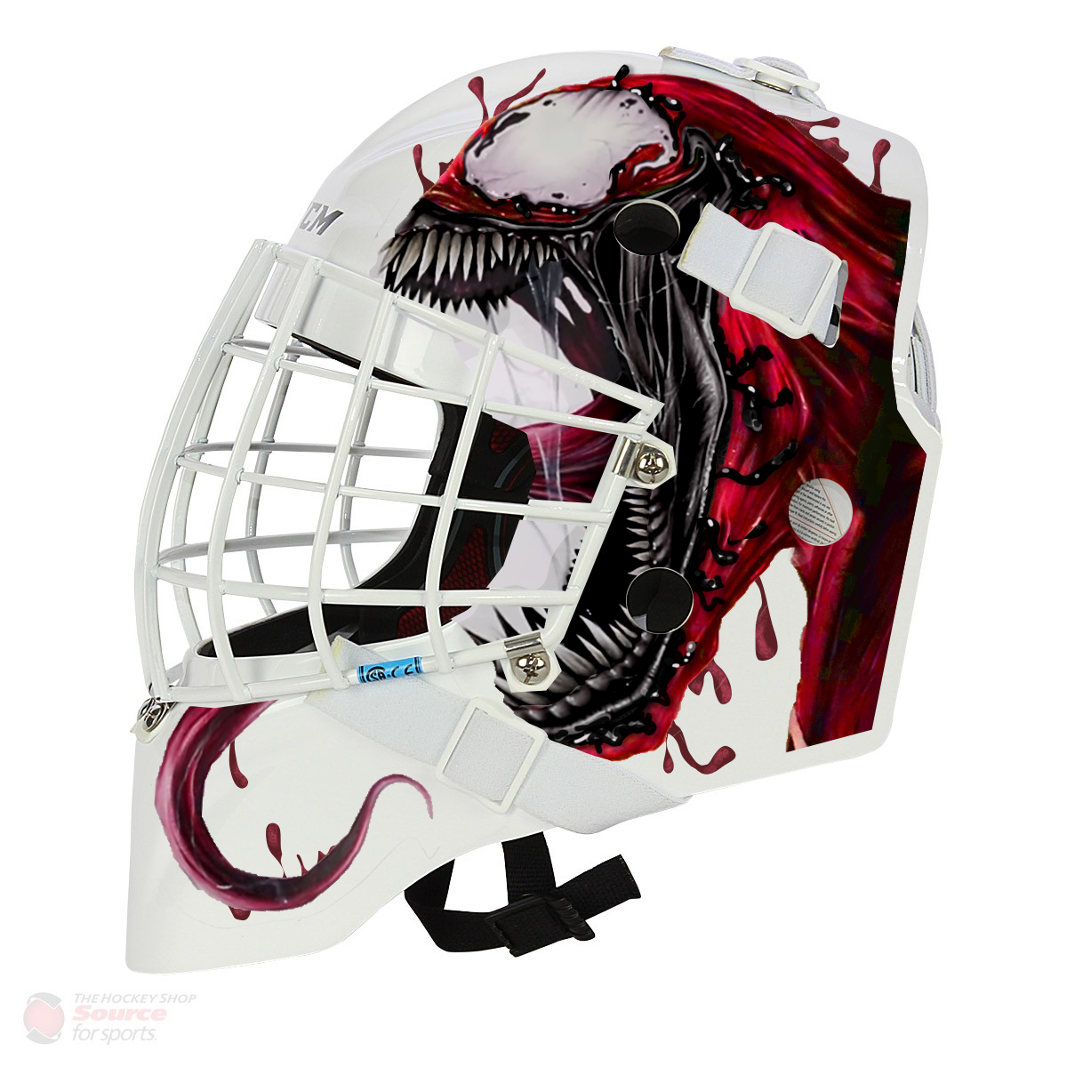 Marvel Spiderman Carnage Goalie Mask Design Art For Printed Vinyl Concept Goalie Mask Mask Design Goalie