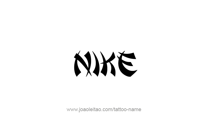 Nike Mythology Name Tattoo Designs Tattoos With Names