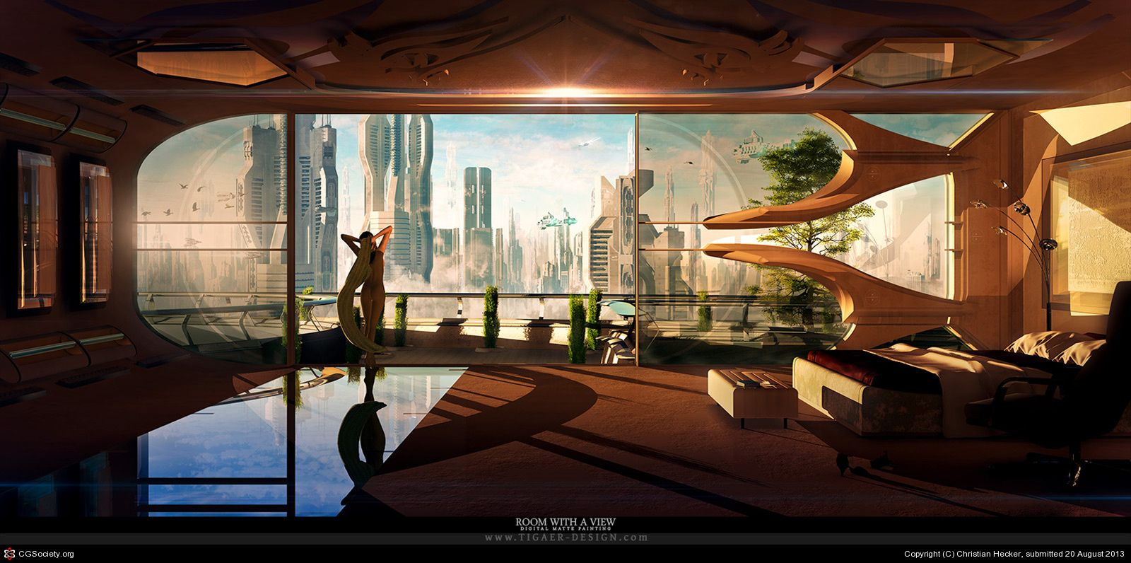 Room with a view by christian hecker 2d cgsociety for 2d room design
