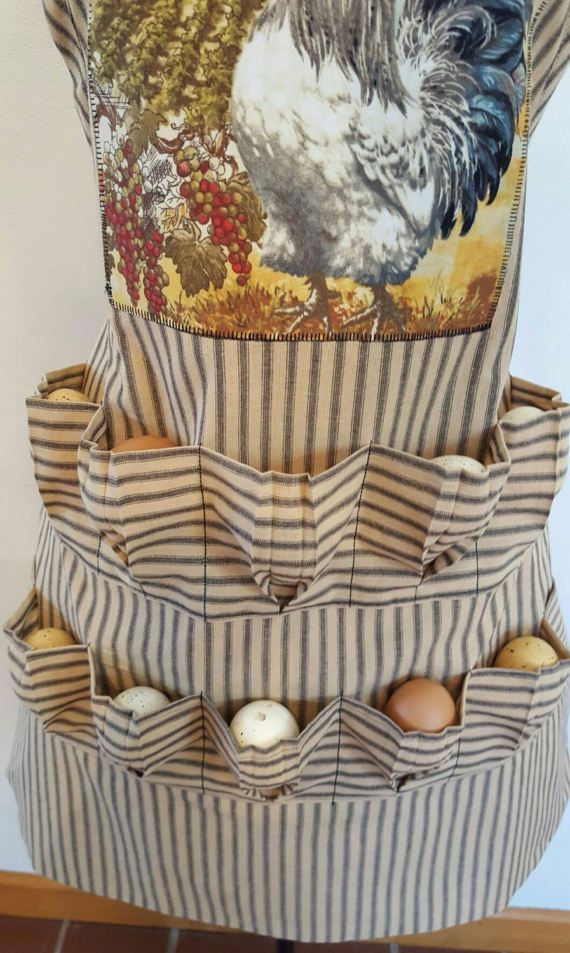 Poultry Egg Gathering Adult Bib Apron Made to order