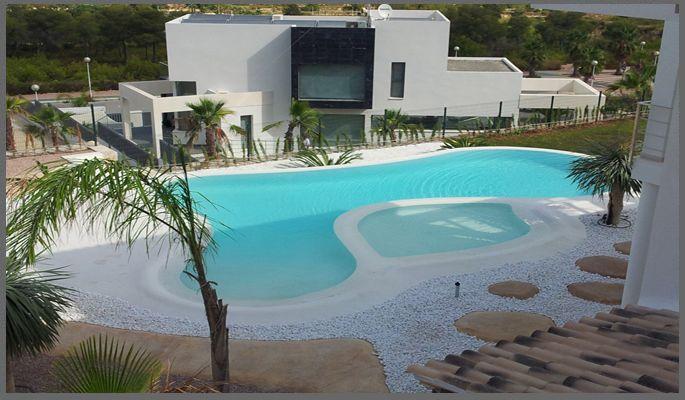 Piscina de arena con micro cemento piscina pinterest for Piscinas cemento construccion