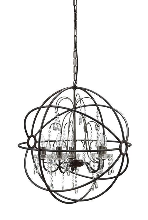 Round Metal Sphere Restoration Chandelier Hardware Orb Light