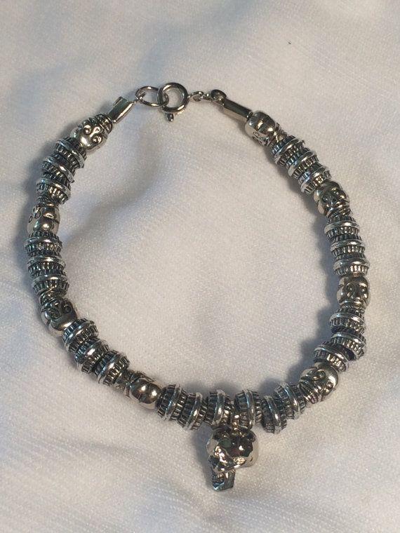 Mega Skull Bracelet by JinxedAmethystKorner on Etsy