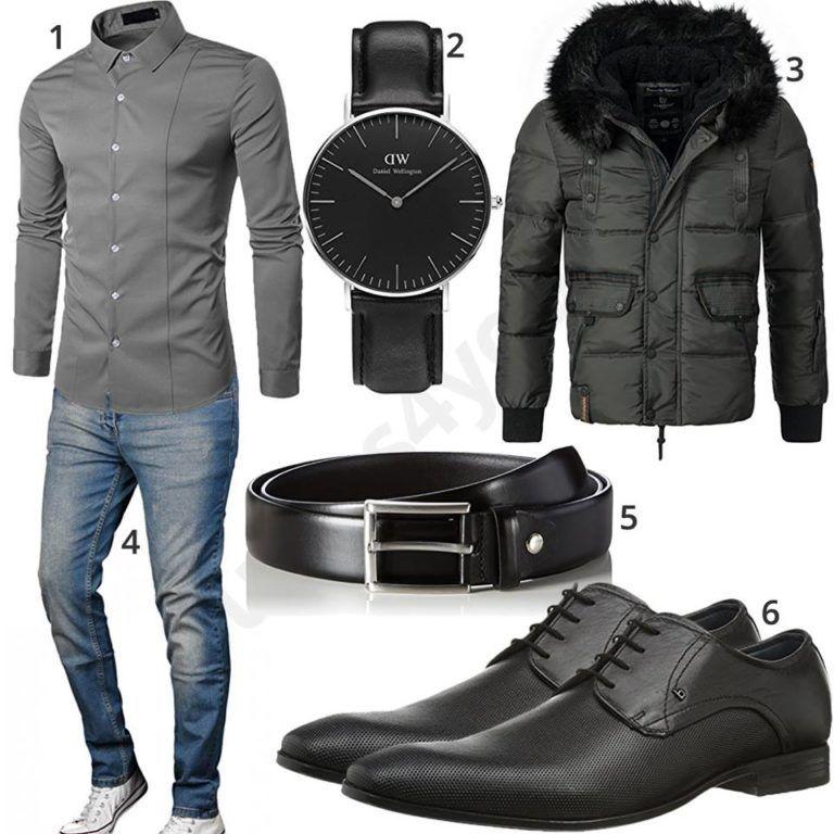 Herren Style mit Hemd, Business Schuhen und Uhr   Mode für