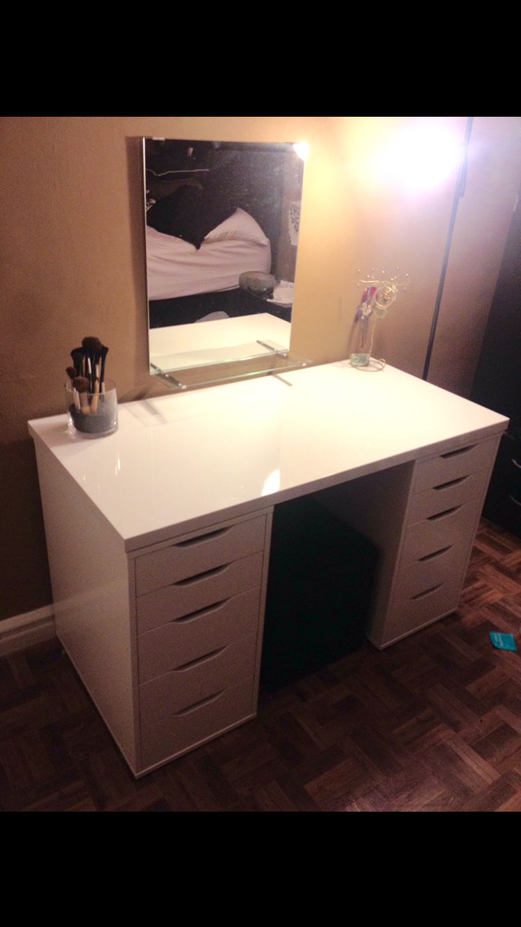 Diy vanity all items purchased at ikea x alex drawer units x