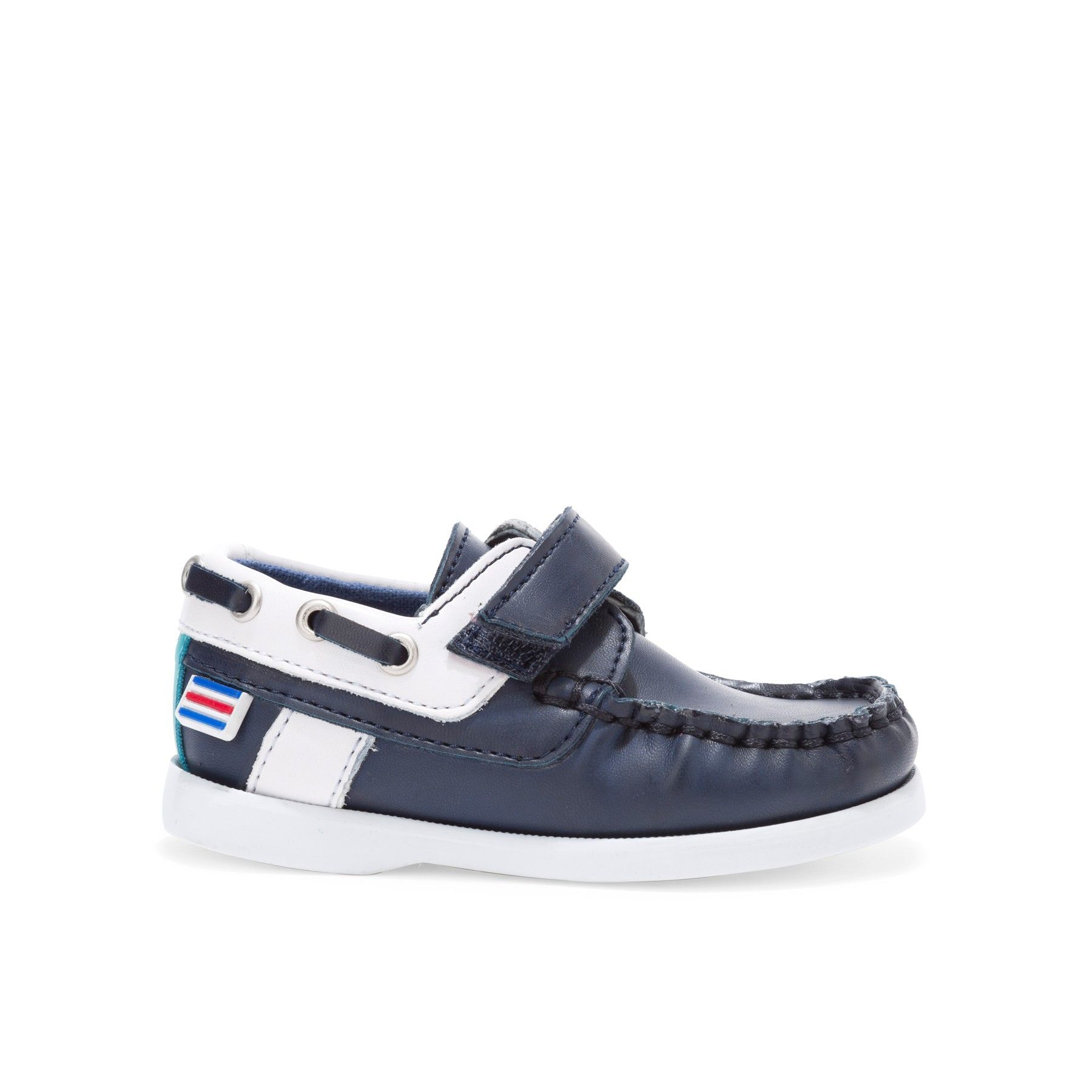 Chaussures Bleues Avec Velcro Ronde Enfants Toe yJmSgIb2