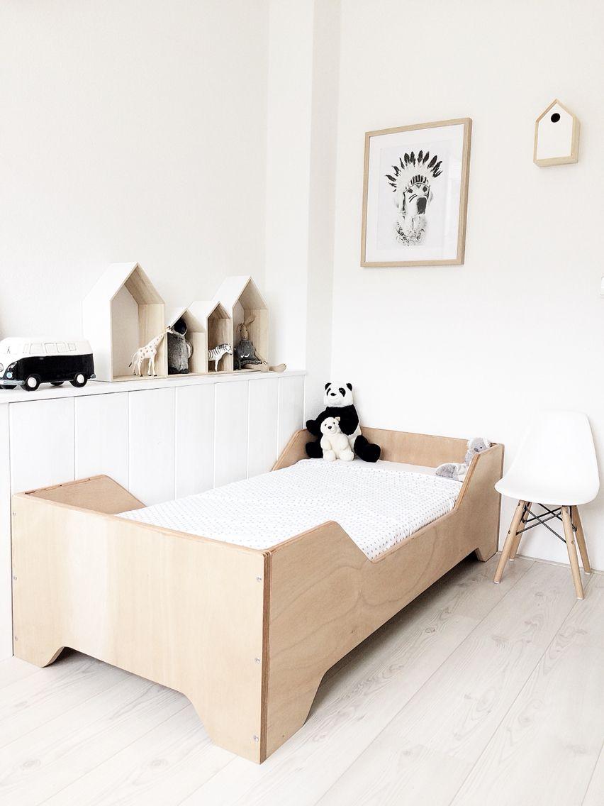 Wonderbaar Zelf bed maken met OSB | Scandinavische kinderkamers, Kind IO-43