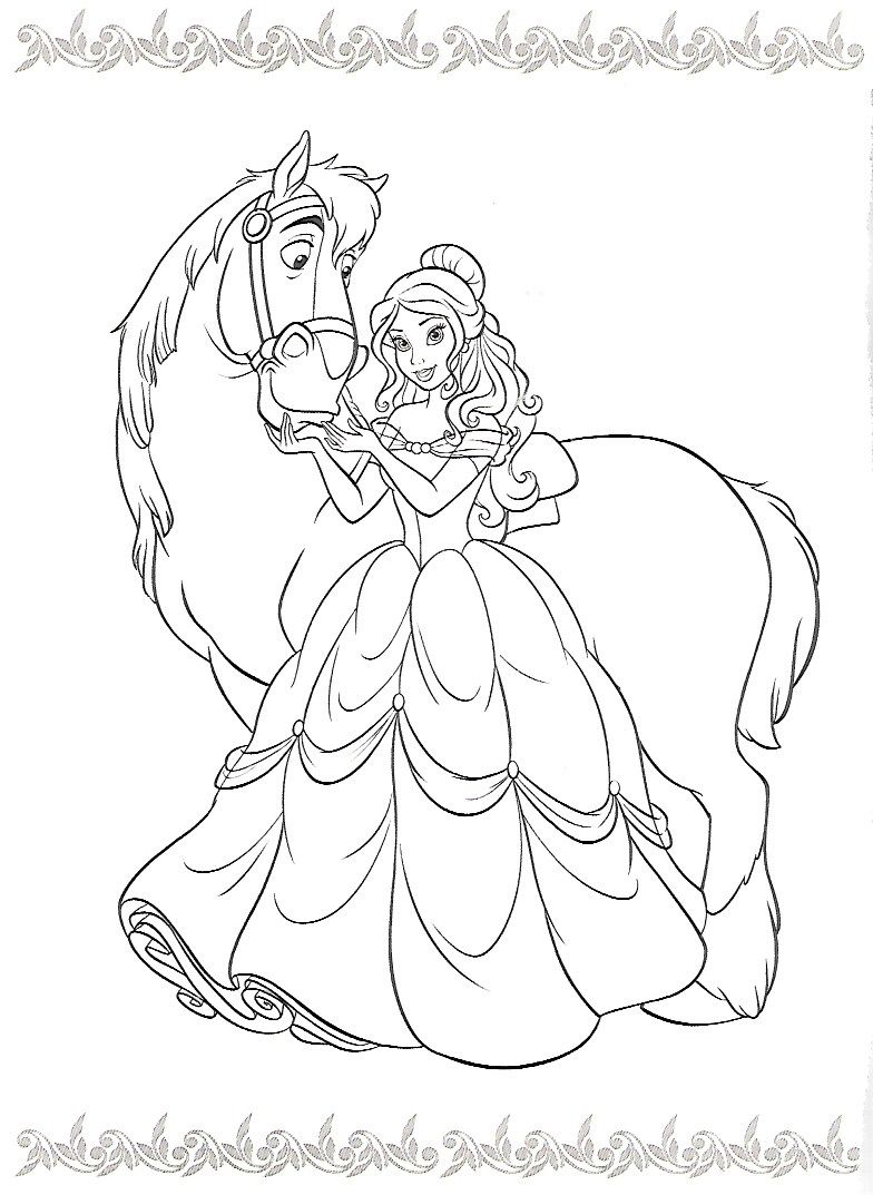 Princess Coloring Pages By Liberty Seaman On Coloring Disney