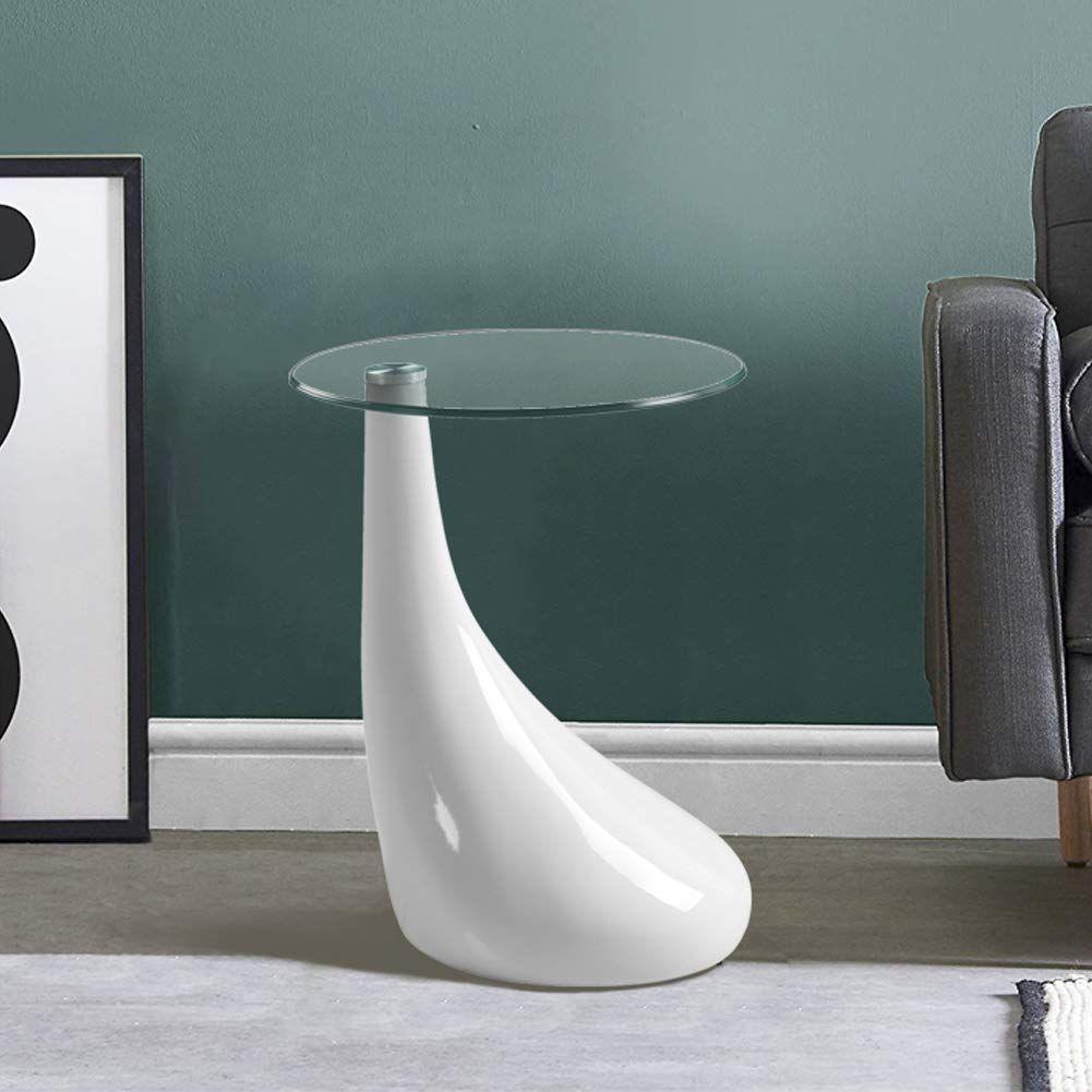 Goldfan Moderner Hochglanz Kleiner Glas Beistelltisch Couchtisch Aus Glas Geeignet F R Schlafzimme In 2020 Modern Side Table Glass Side Tables Modern Sofa Living Room