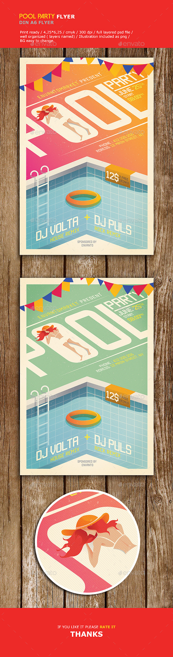 Pool Party Flyer  Party Flyer Font Logo And Flyer Template