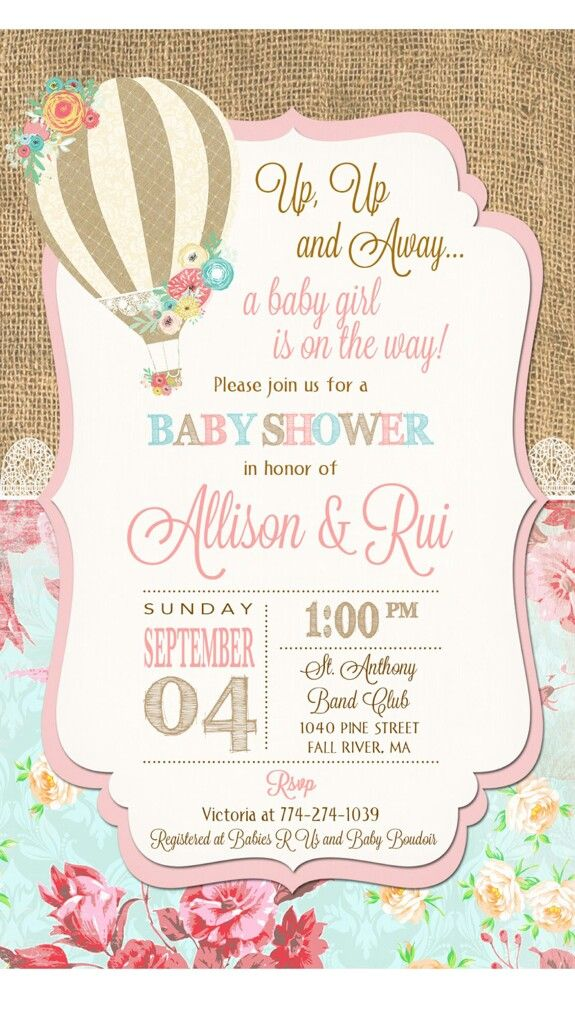 Invitation Invitación De Globo Baby Shower Invitaciones Y