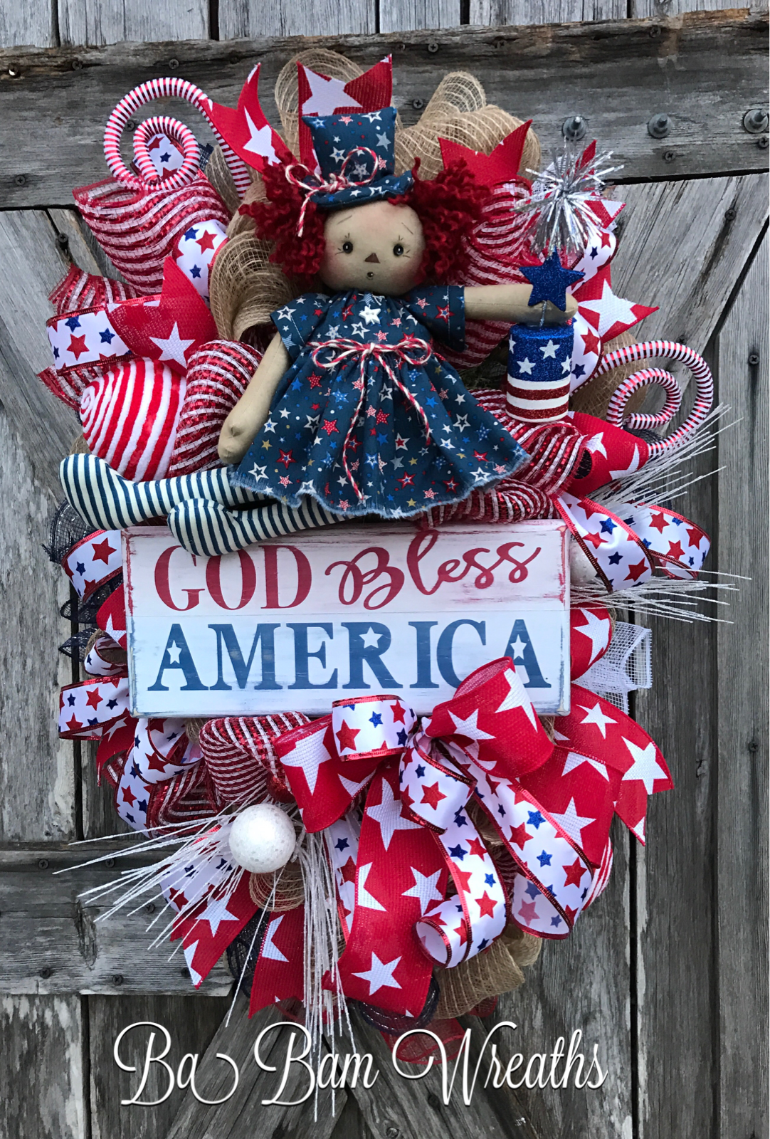 Americana christmas ornaments - Patriotic Swag Patriotic Wreath 4th Of July Wreath Americana Wreath