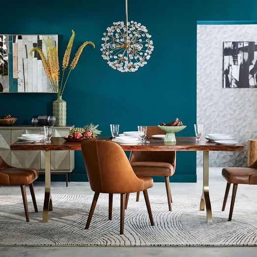 Dream Dining Room Table Cast Trestle From West Elm With Clear Or Leather