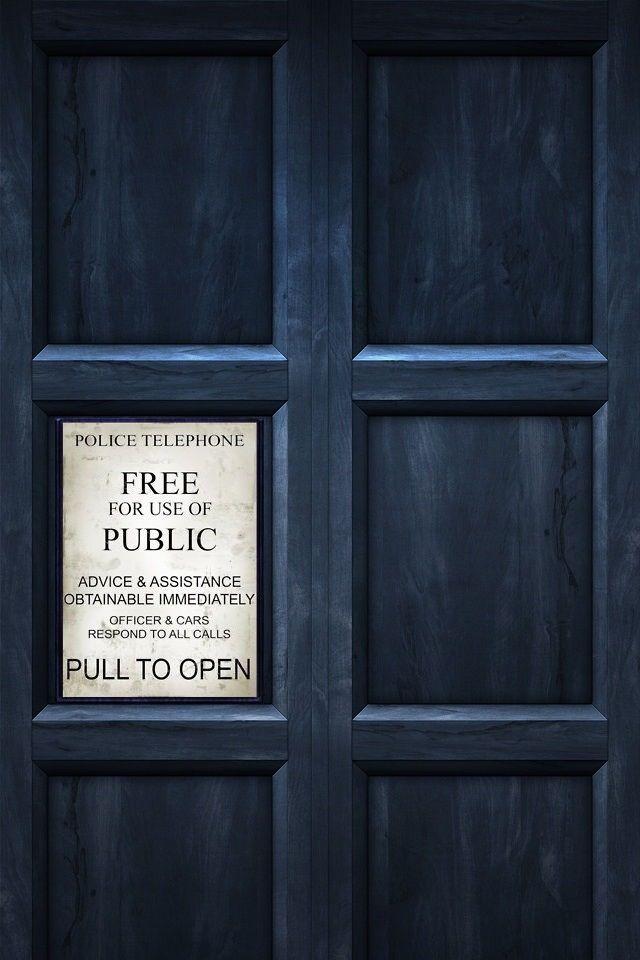 Doctor Who Tardis iPhone Wallpaper