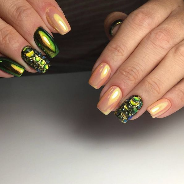 Beautiful chameleon nails arte design using LUXE GEL new product ...
