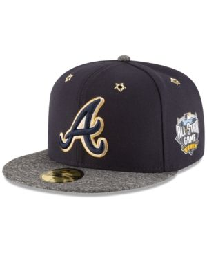 low priced f168b 48802 New Era Atlanta Braves 2016 All Star Game Patch 59FIFTY Cap - Blue 7 3 8