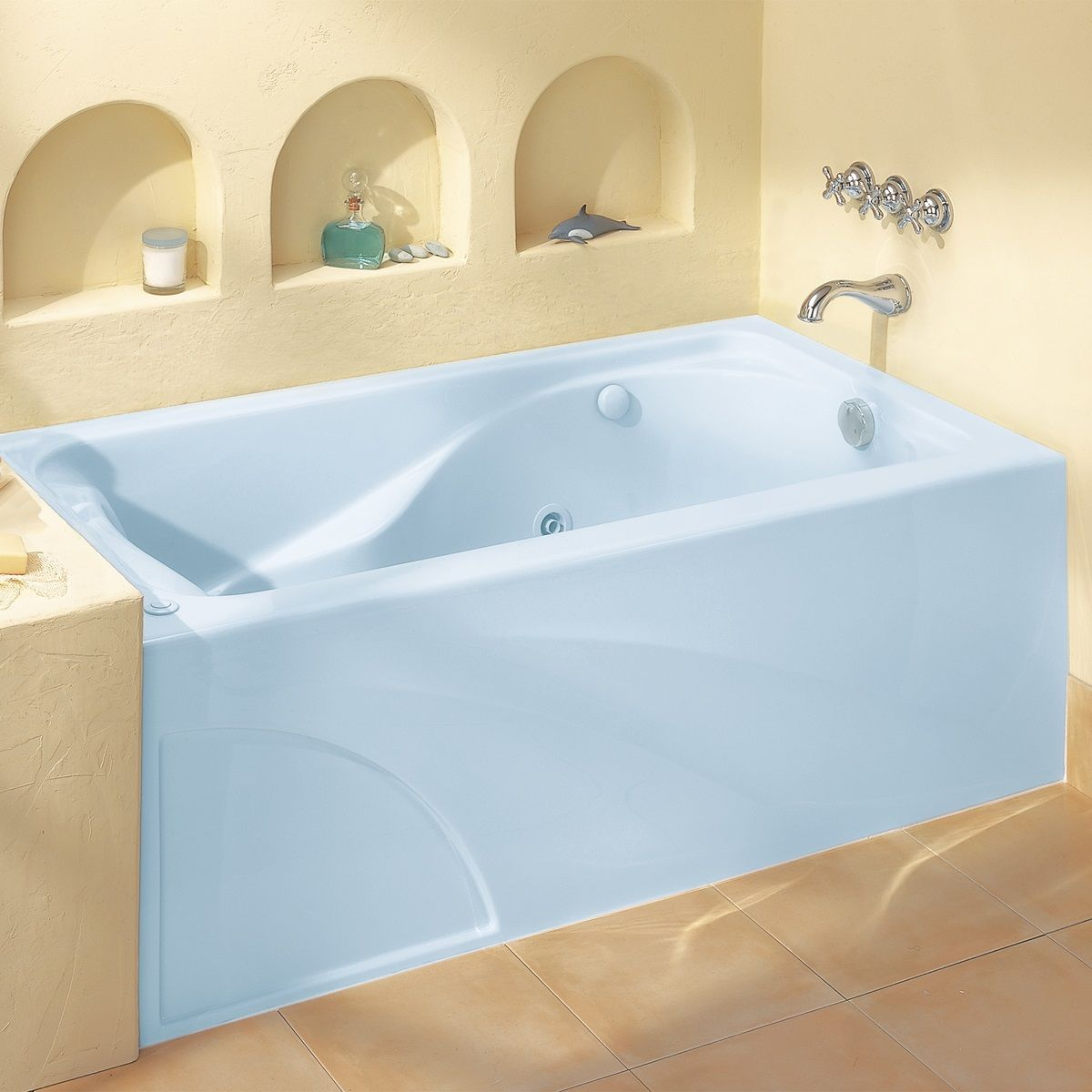 Massage Tubs - Cadet 60 Inch by 32 Inch EverClean Whirlpool with ...