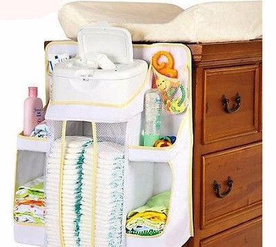 Portable Nappies Organizer Nursery Storage Basket for Car Nursery Room Or Home Shower Gift DYSCN Baby Diaper Caddy Organizer