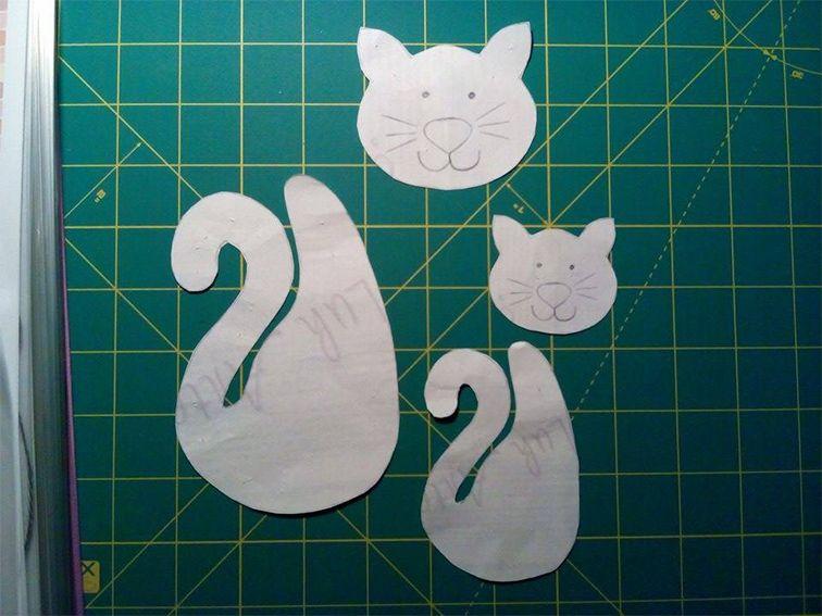 Idee Creative Cucito : Cartamodello gattini in feltro cucito creativo tutorial