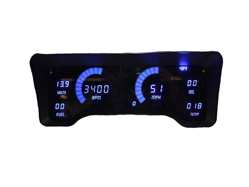 Jeep Wrangler Led Digital Gauge Panel Blue 97 06 Jeep Wrangler
