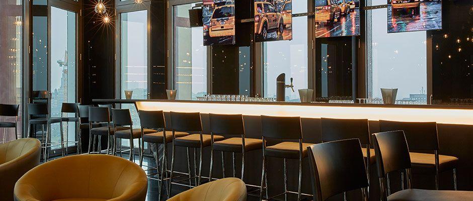 Küchengeschäft Hamburg panoramablick über hamburg in der bar 11 im hyperion hotel hamburg