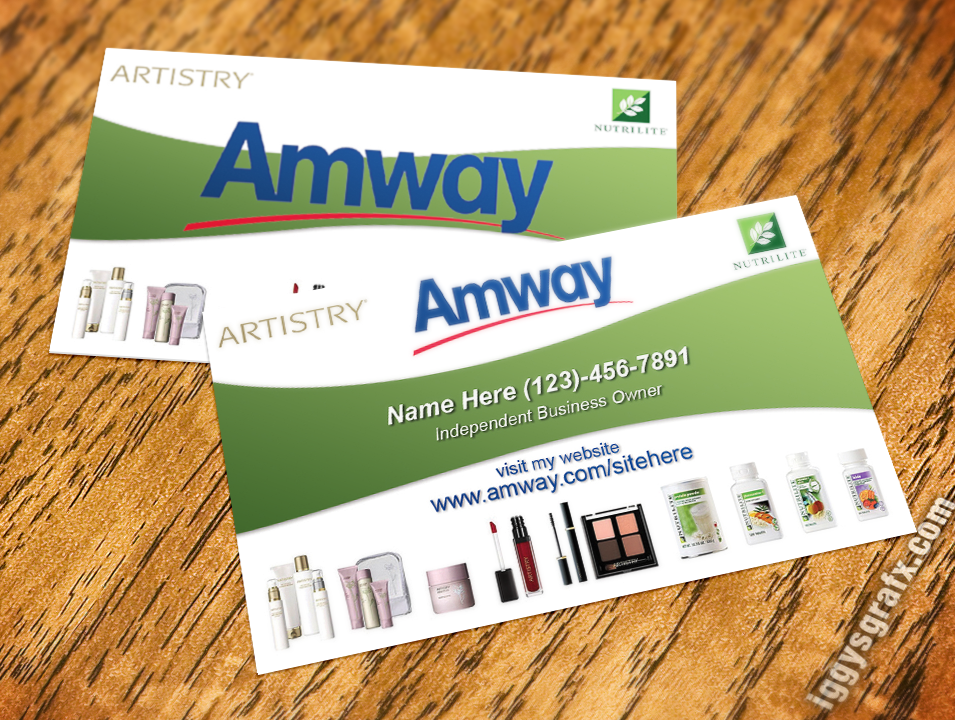 Green Wave Amway Business Card | Amway Business Cards | Pinterest